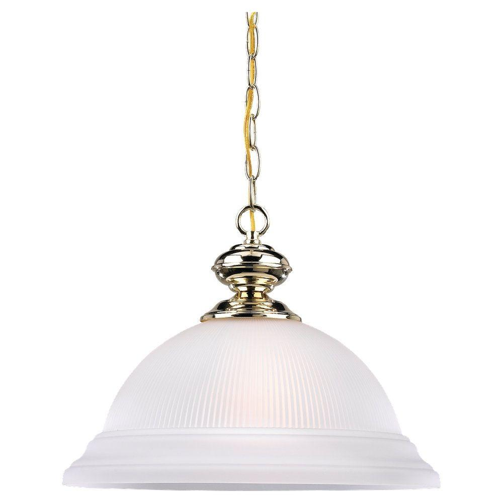 Sea Gull Lighting Mullica Hill 1-Light Polished Brass Pendant