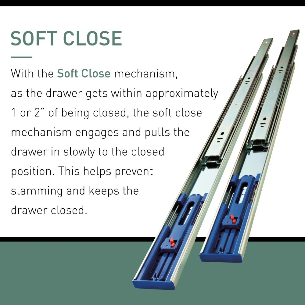 Soft Close Full Extension Side Mount