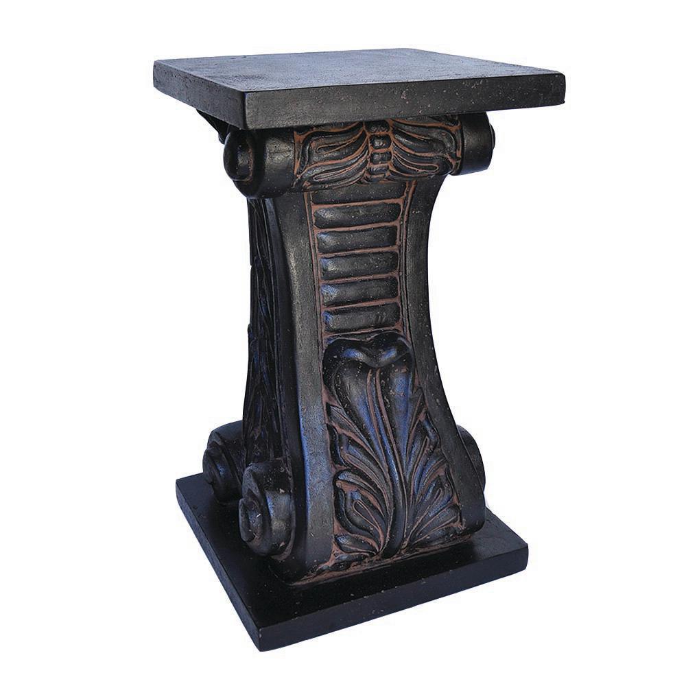 24 in. H Charcoal Cast Stone Classic Pedestal