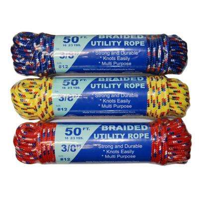 3/8 in. x 50 ft. Braided Utility Rope