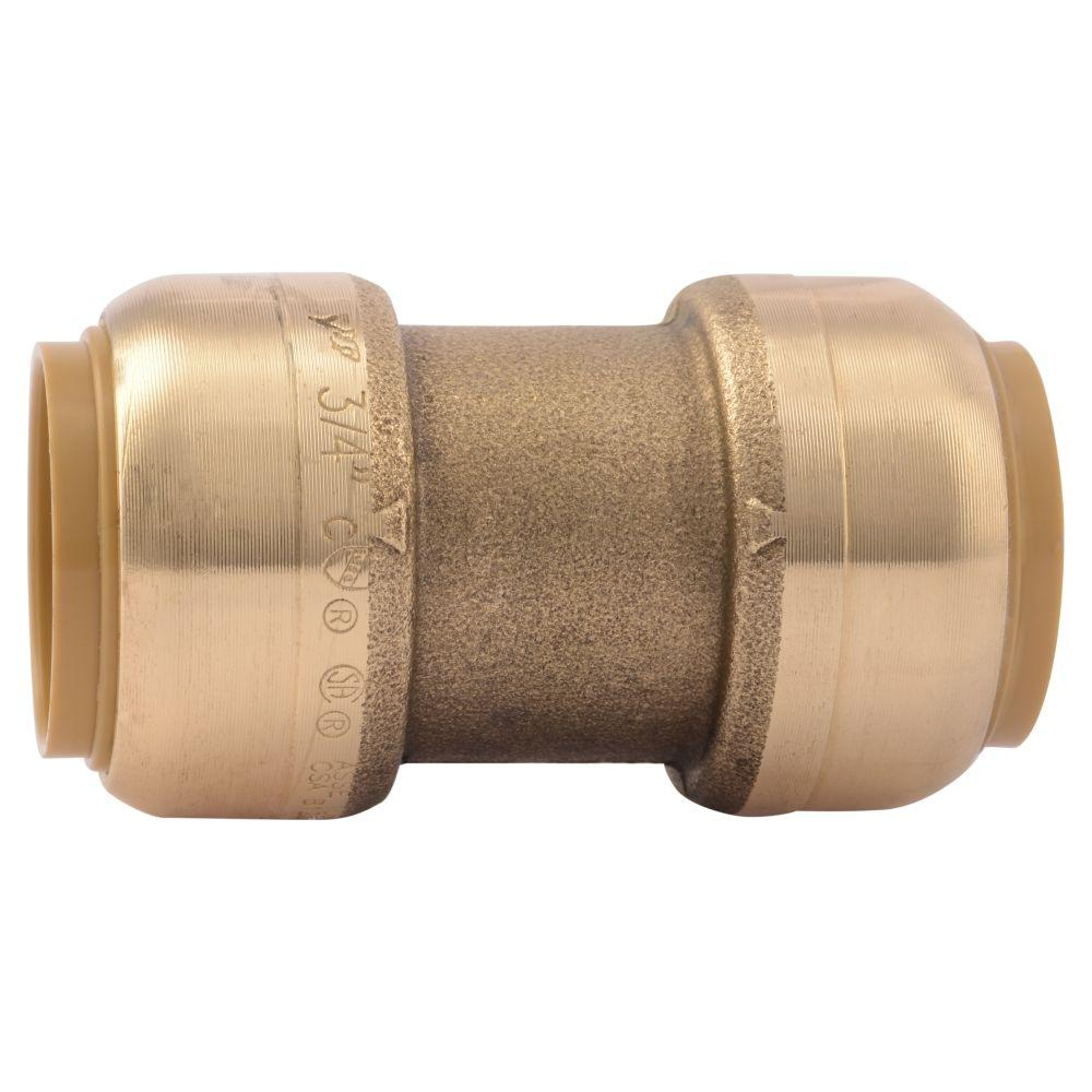3/4 in. Brass Push-to-Connect Coupling Contractor Pack (10-Pack)