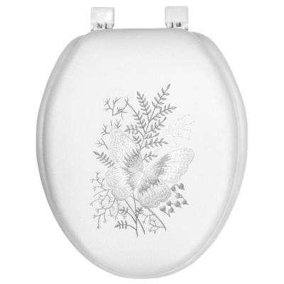 Ginsey Elongated Closed Front Soft Toilet Seat Springtime Floral
