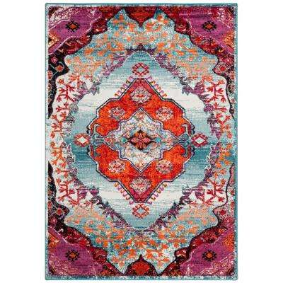 Cherokee Light Blue Fuchsia 5 Ft X 8 Area Rug