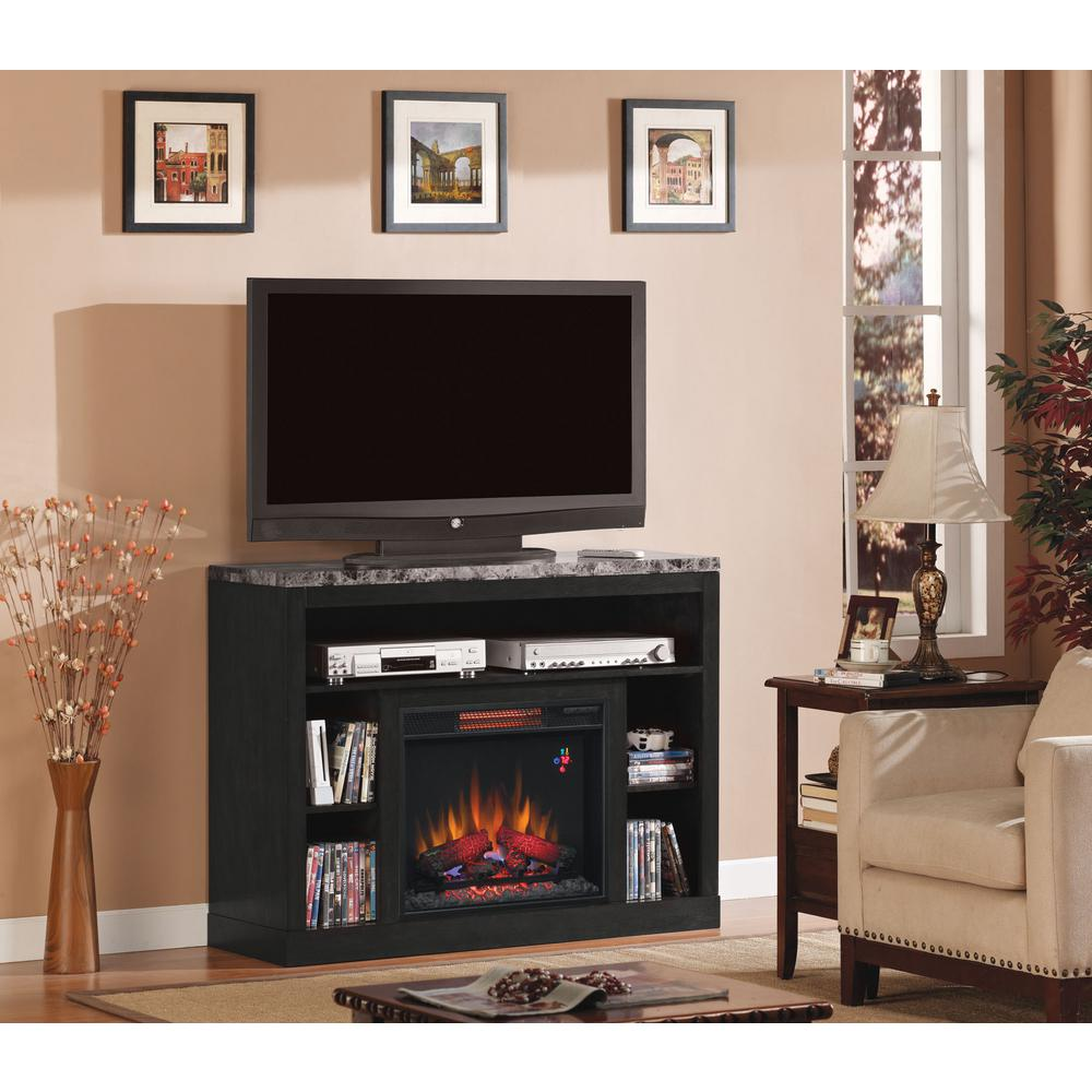 classic flame adams 47 5 in media mantel electric fireplace in