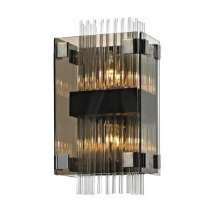 Troy Lighting Apollo 2-Light Dark Bronze and Polished Chrome 14 inch W Wall... by Troy Lighting