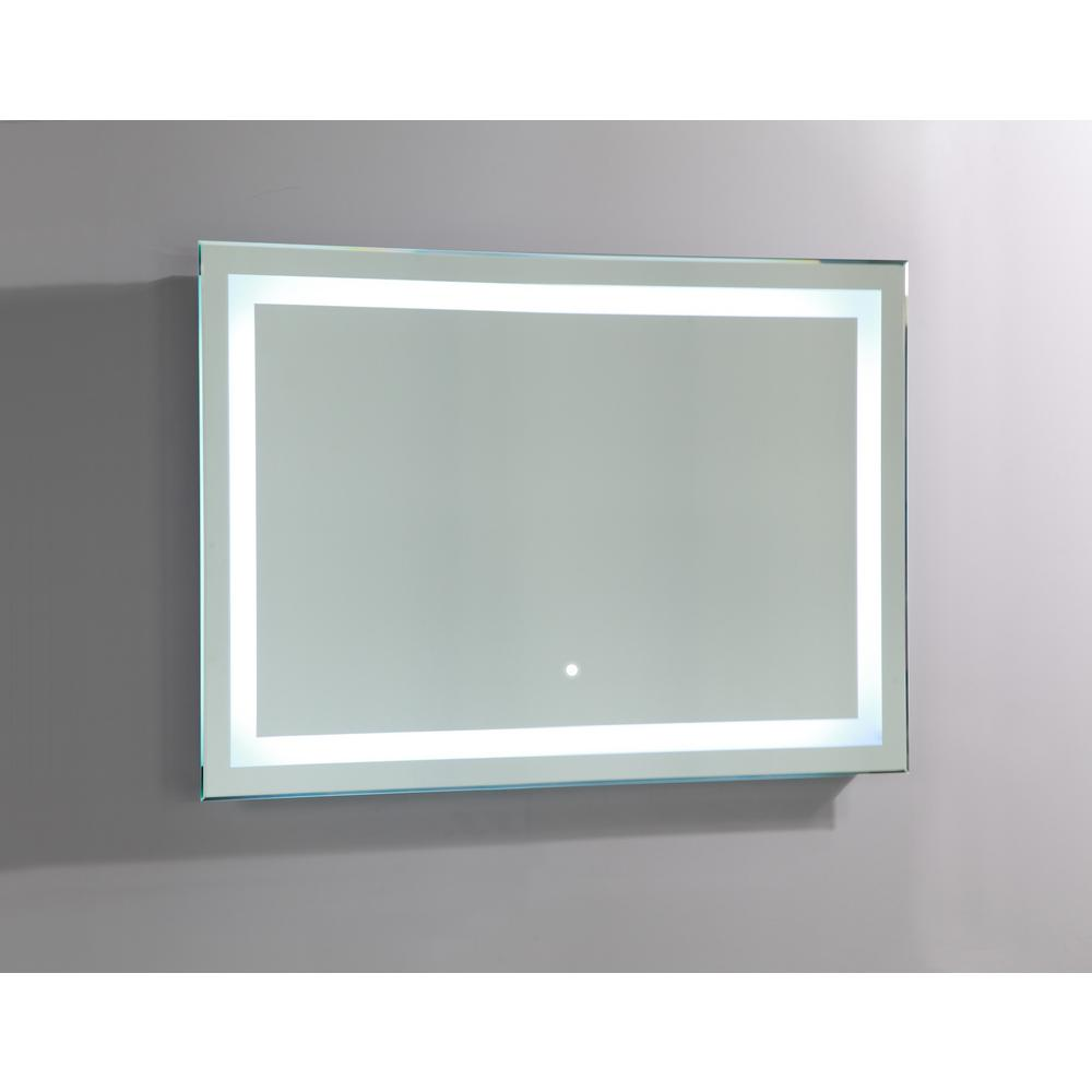 Vanity Art 39 in. x 28 in. LED Lighted Rectangle Bathroom Vanity Mirror with Sensor Switch, Clear was $299.0 now $239.2 (20.0% off)