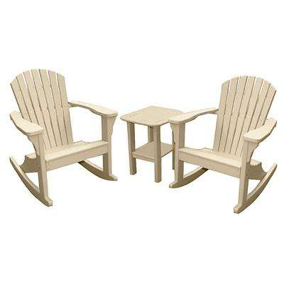 Sandstone 3-Piece Poly-Lumber Rocking Patio Conversation Set