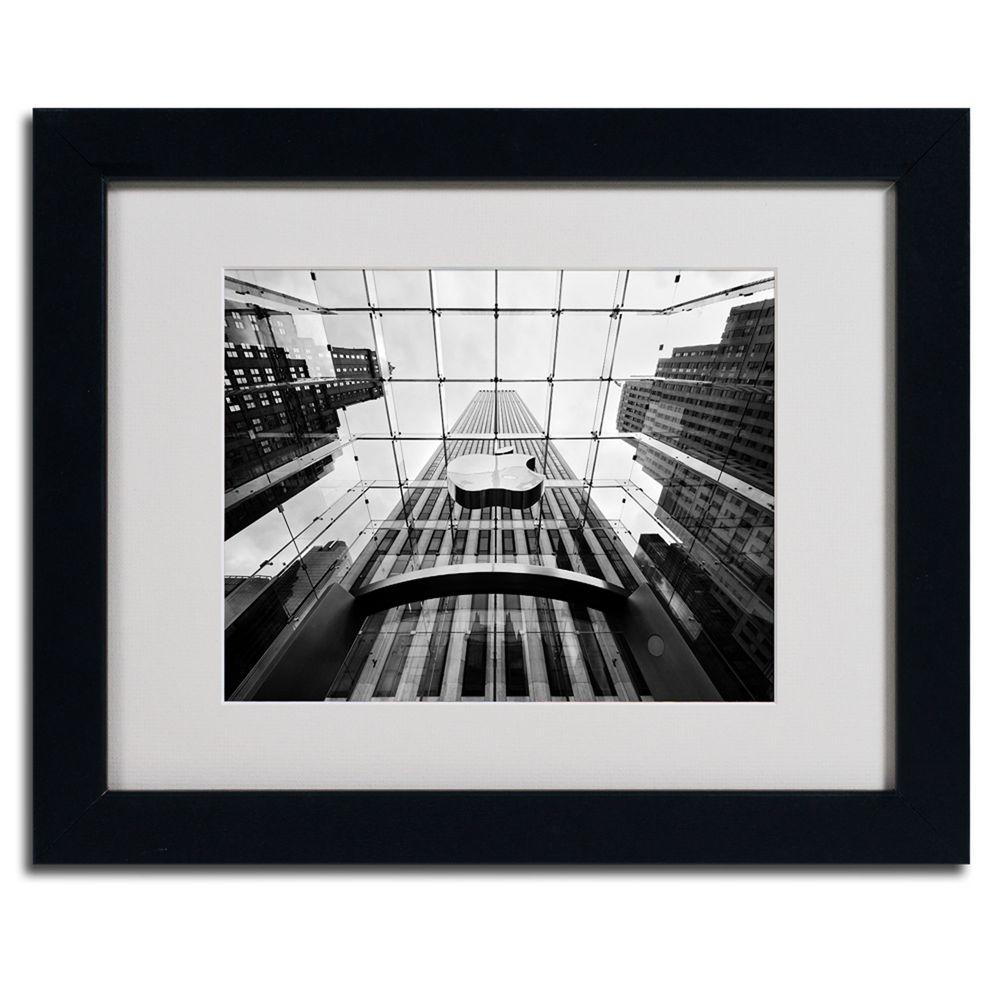 Trademark fine art 11 in x 14 in nyc big apple ii matted framed art np0002 b1114mf the home depot