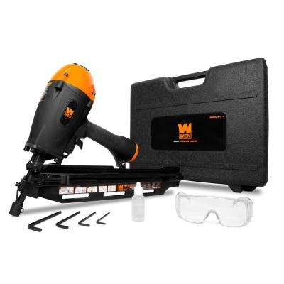 3-in-1 Pneumatic 21-Degree, 28-Degree and 34-Degree Framing Nailer with Carrying Case