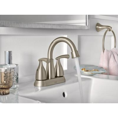 Essie 2-Handle 4 in. Centerset Bathroom Faucet in Spot Resist Brushed Nickel