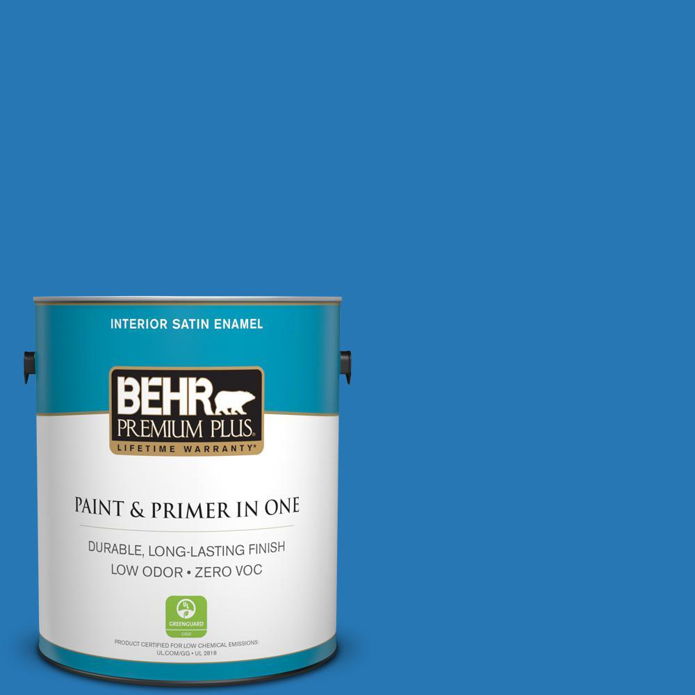 BEHR Premium Plus 1-gal. #P500-6 Deep River Satin Enamel Interior Paint