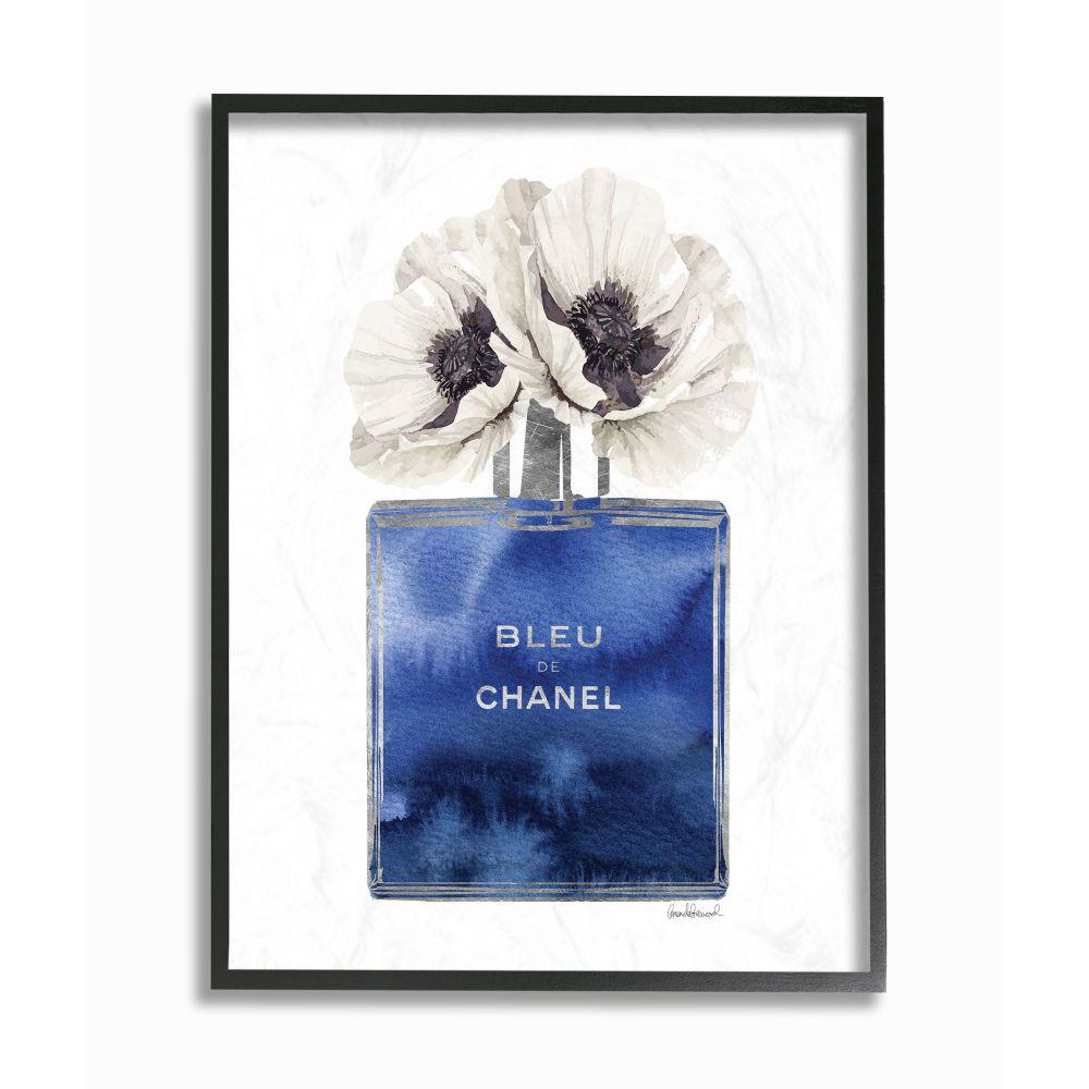 Stupell Industries Fashion Designer Perfume Flower Blue Watercolor By Amanda Greenwood Framed Abstract Wall Art 20 In X 16 In Agp 249 Fr 16x20 The Home Depot
