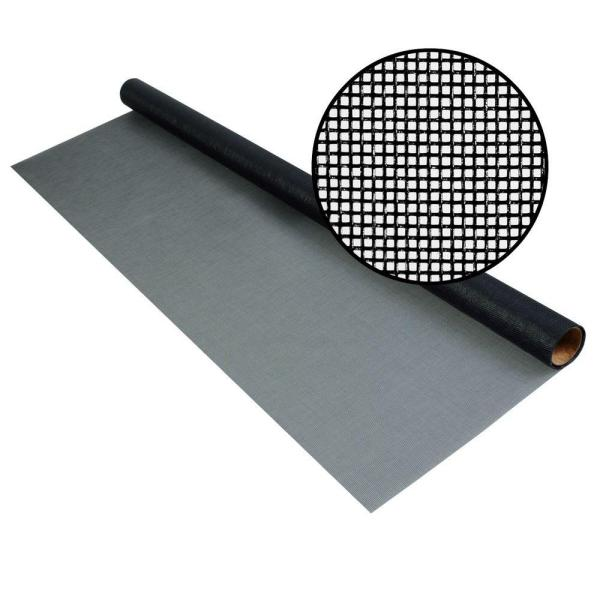 48 in. x 25 ft. Charcoal Fiberglass Screen - 20 x 20 No-See-Um Mesh