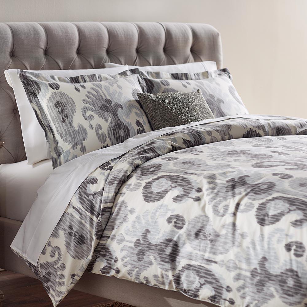 Home Decorators Collection Still Water Grey Queen Duvet