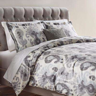Still Water Grey Queen Duvet