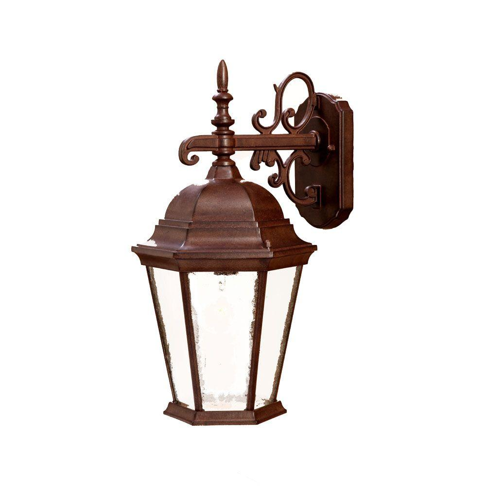 Acclaim Lighting Richmond Collection 1-Light Burled Walnut Outdoor Wall-Mount Light Fixture