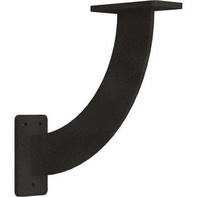 2 in. x 9 in. x 9 in. Steel Hammered Dark Bronze Bradford Bracket