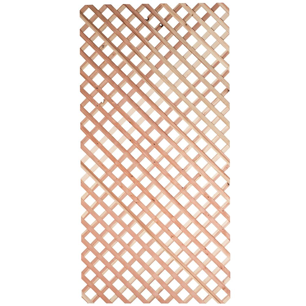 1/4 in. x 48 in. x 8 ft. Redwood Garden Lattice