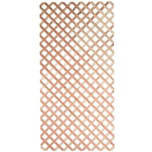 1 4 In X 48 In X 8 Ft Redwood Garden Lattice 173342 The Home Depot