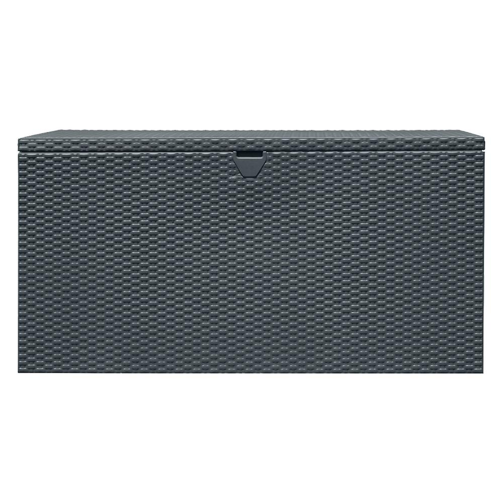 Arrow Storage Products 134 Gal. HDG Steel Spacemaker Deck Box   Anthracite