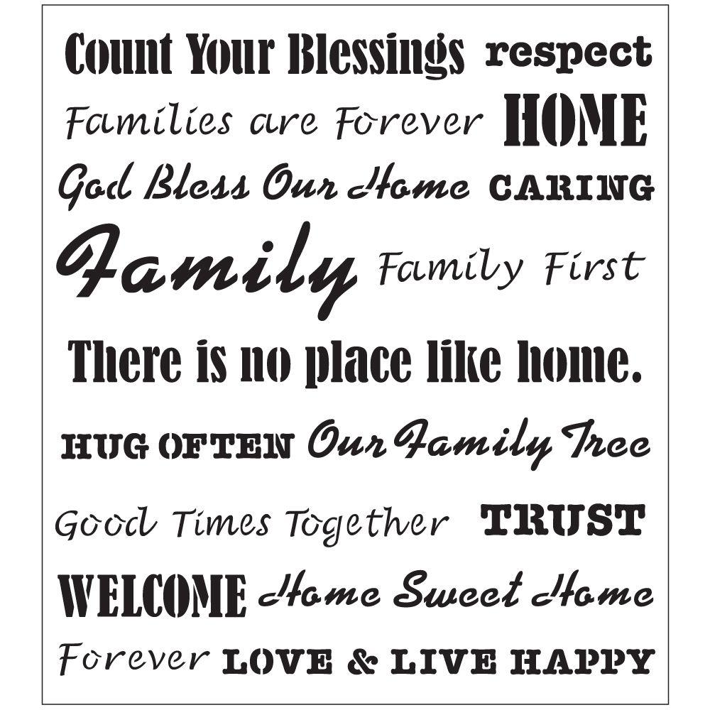 Family Is Forever Quotes Quotes  Stencils  Craft & Art Supplies  The Home Depot