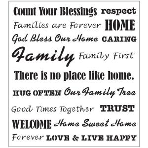 FolkArt Words/Phrases Family Laser Painting Stencils by FolkArt