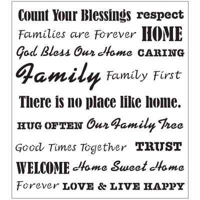 Words/Phrases Family Laser Painting Stencils