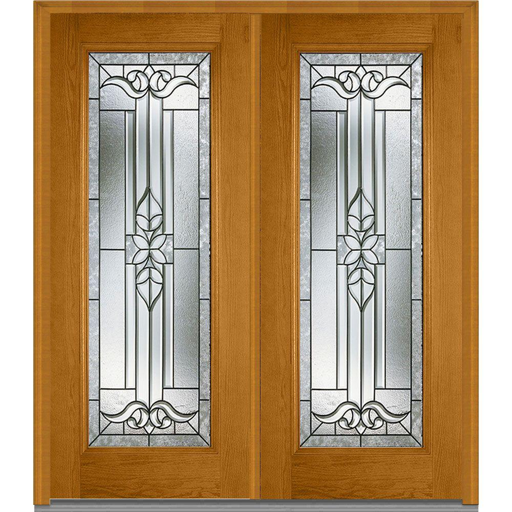 Mmi door 66 in x in cadence decorative glass full for Decorative glass entry door