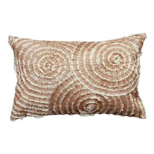 Spiral Lace Brown Geometric Down Alternative 20 in. x 20 in. Throw Pillow
