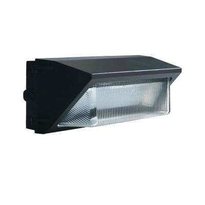 40-Watt Dark Bronze Outdoor Integrated LED Dimmable 120-277V Dusk to Dawn Medium Wall Pack Light DayLight 5000K 10133