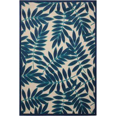 Aloha Navy 5 ft. x 7 ft. Indoor/Outdoor Area Rug