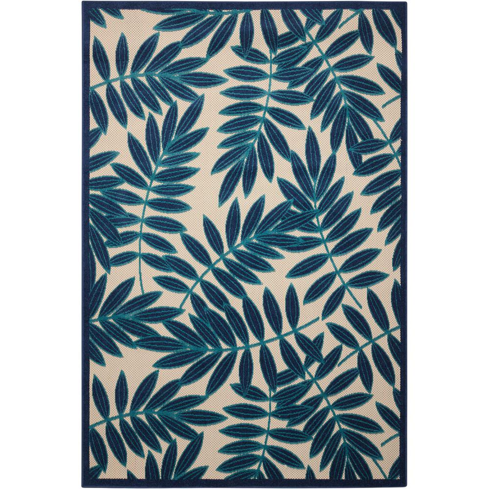 Aloha Navy 9 ft. 6 in. x 13 ft. Indoor/Outdoor Area