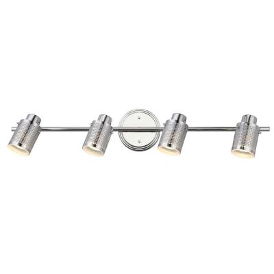 Anita 29 in. 4-Light Chrome Track Lighting Fixture with Frosted Glass Shades