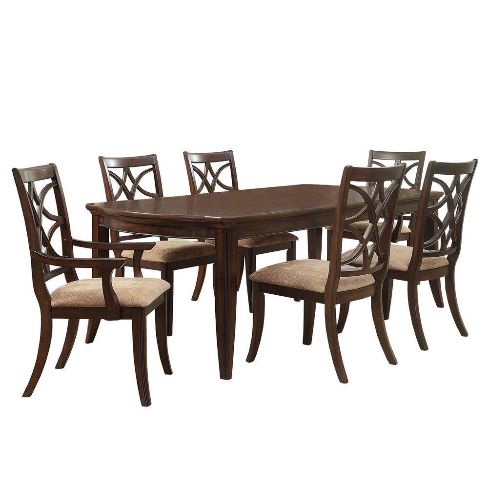 Homesullivan hampton 7 piece espresso dining set 402546 96 for Dining room sets under 300