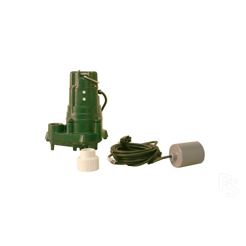 Zoeller BN140 1 HP Effluent or Dewatering Submersible Pump with 20 ft. Cord and 20 ft. VLFS-DISCONTINUED