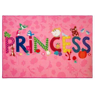 Princess Icons Multi-Colored 5 ft. x 7 ft. Indoor Juvenile Area Rug