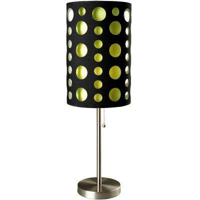 33 in. Black and Green Stainless Steel High Modern Retro Table Lamp
