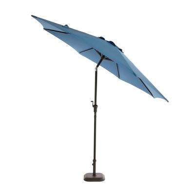 Steel Tilt Patio Umbrella in Denim  sc 1 st  The Home Depot : fade resistant patio umbrella - thejasonspencertrust.org
