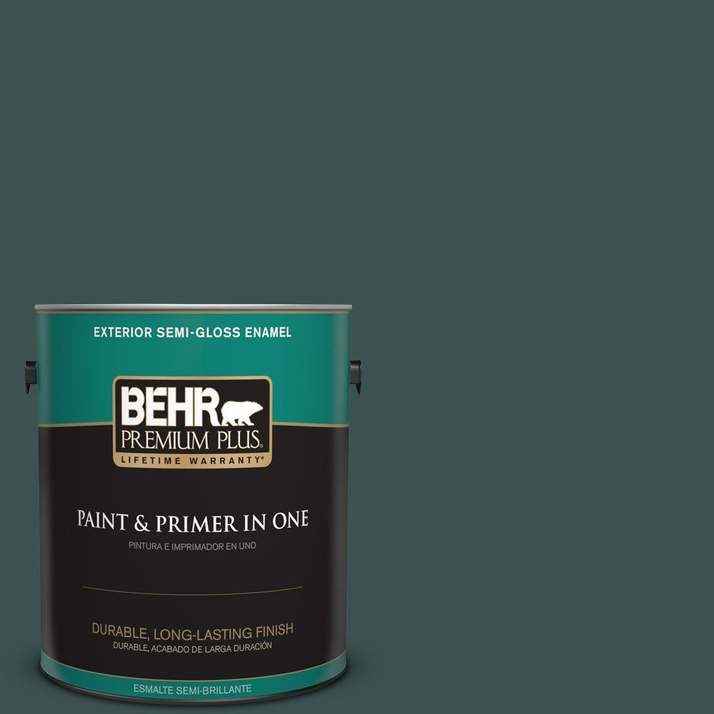 1 gal. #HDC-CL-21A Dark Everglade Semi-Gloss Enamel Exterior Paint