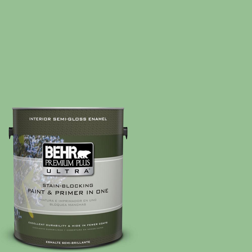 1-gal. #450D-5 Velvet Leaf Semi-Gloss Enamel Interior Paint