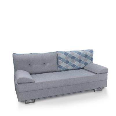 Dynasty Gray Fabric Upholstery Sofa Sleeper Bed with Storage