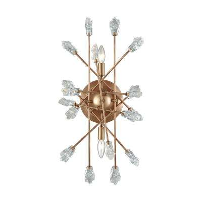 Serendipity 2-Light Matte Gold with Clear Bubble Glass Sconce