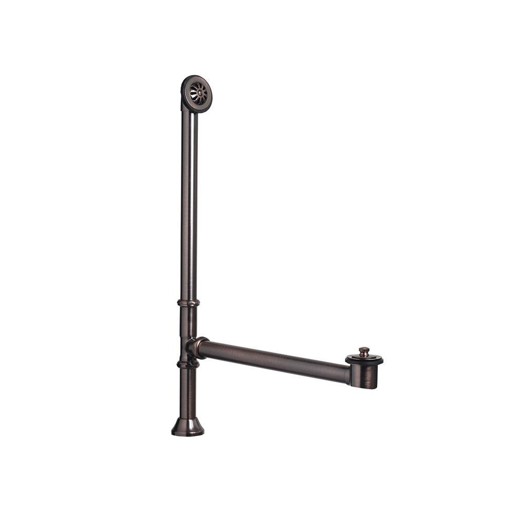 SINKOLOGY 1-1/2 in. O.D. Adjustable Brass Lift and Turn Bathtub ...