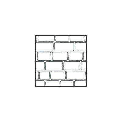 4 ft. x 8 ft. Cobblestone Decorative Concrete Plastic Stencil