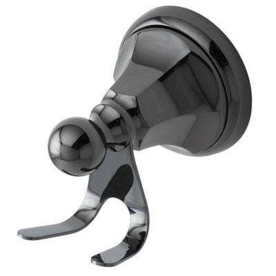 Onyx Double Robe Hook in Black Stainless Steel