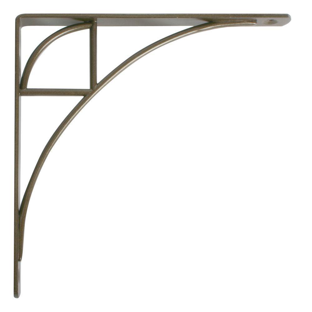 Oak Park 7.75 in. L x 0.75 in. W Antique Bronze 100 lb. Decorative Shelf Bracket