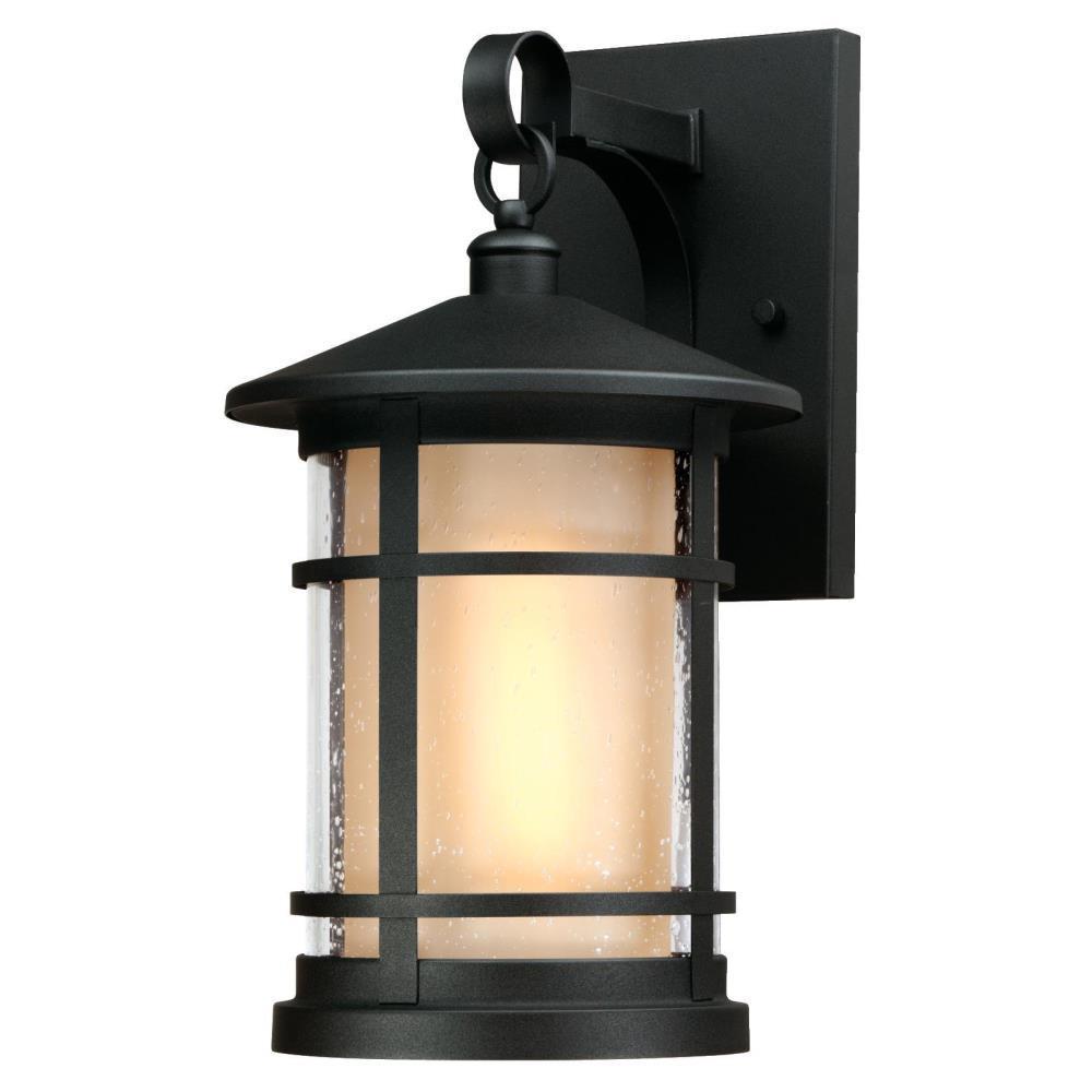 Albright Textured Black 1-Light Outdoor Medium Wall Mount Lantern