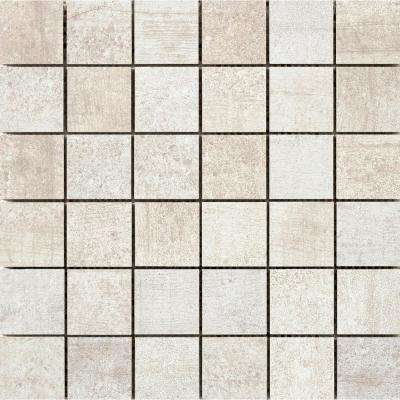 Formwork Link 11.77 in. x 11.81 in. x 10mm Porcelain Mesh-Mounted Mosaic Tile