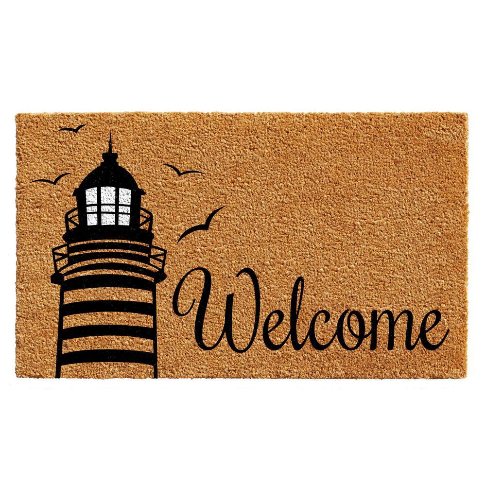Lighthouse Welcome Door Mat 17 in. x 29 in.