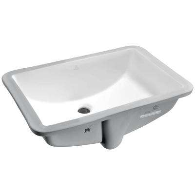 Pegasus Series 8.5 in. Ceramic Undermount Sink Basin in White